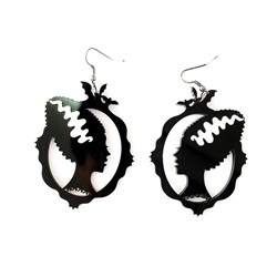 Figure Acrylic Hollow Out Gift Earrings