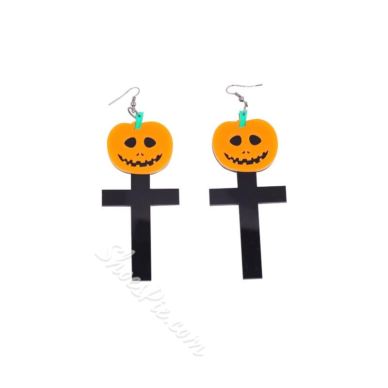 Plastic Color Block European Birthday Earrings