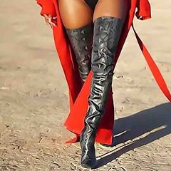 Shoespie Sexy Stiletto Heel Pointed Toe Side Zipper Cotton Boots