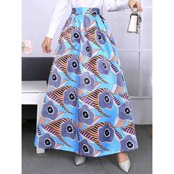 Print Floor-Length Expansion Sweet Women's Skirt