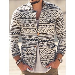 Button Cardigan Color Block Fashion Fall Hoodies