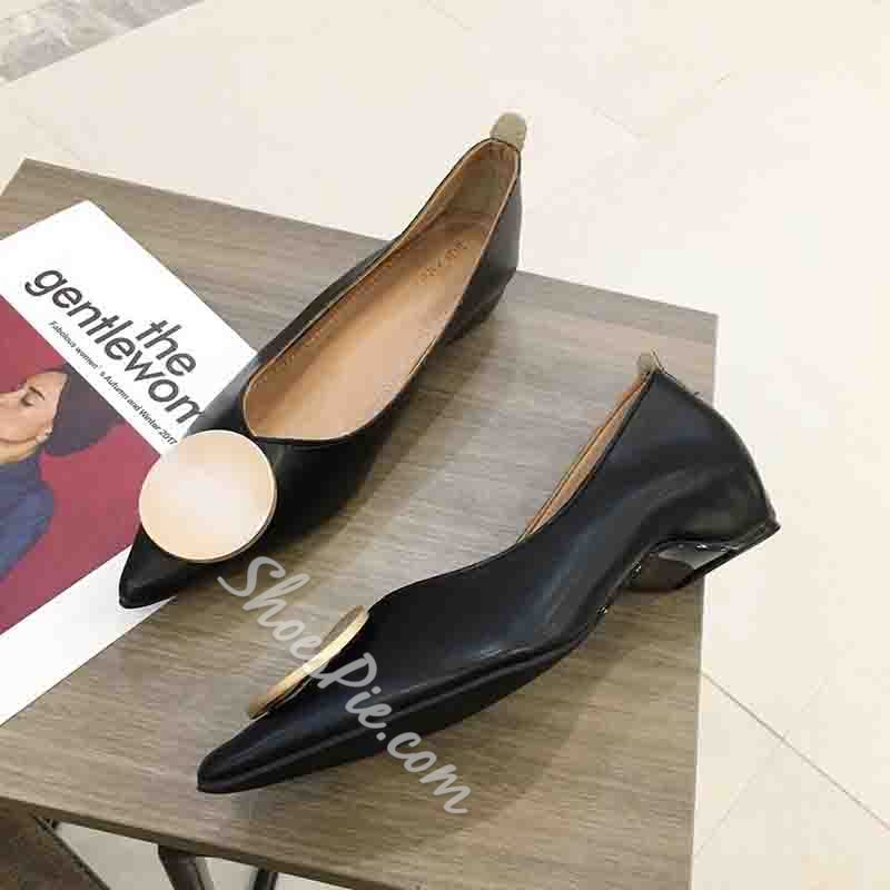 Shoespie Stylish Pointed Toe Thread Slip-On Casual Thin Shoes