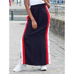 Straight Ankle-Length Color Block Casual Women's Skirt