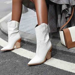Shoespie Sexy Slip-On Plain Pointed Toe Casual Boots
