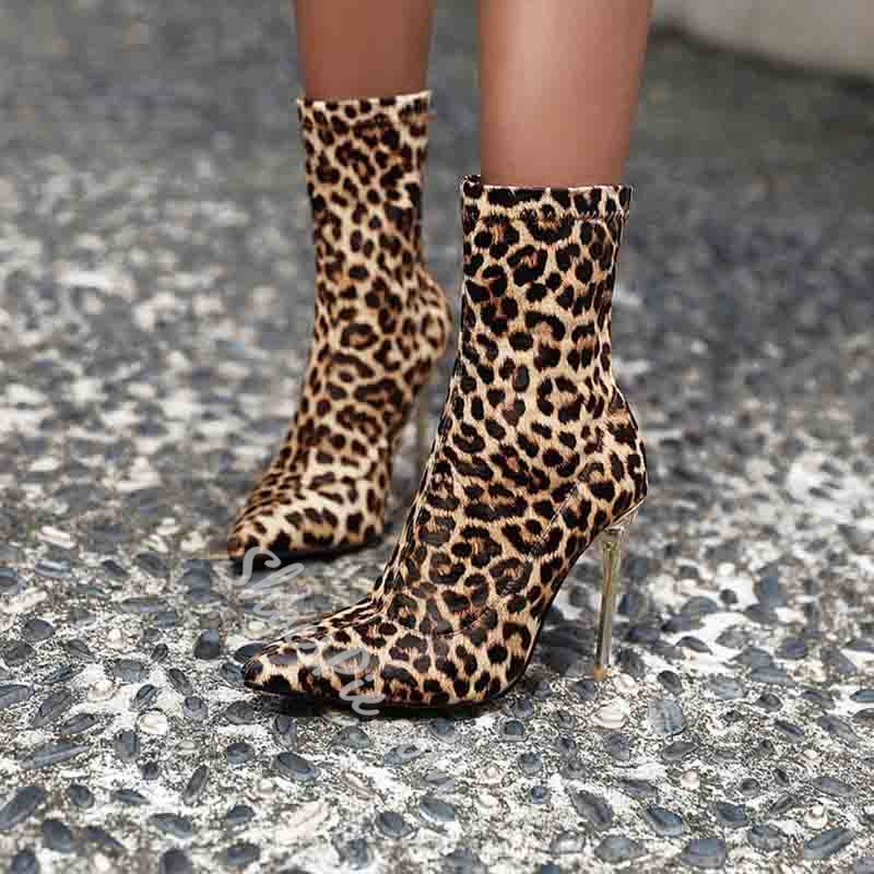 Shoespie Trendy Pointed Toe Stiletto Heel Plain Casual Boots