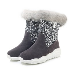 Shoespie Trendy Color Block Slip-On Round Toe Casual Boots