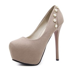 Shoespie Stylish Slip-On Stiletto Heel Round Toe Low-Cut Upper Thin Shoes