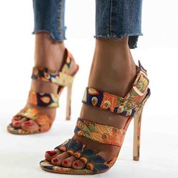 Shoespie Stylish Stiletto Heel Buckle Open Toe Buckle Sandals
