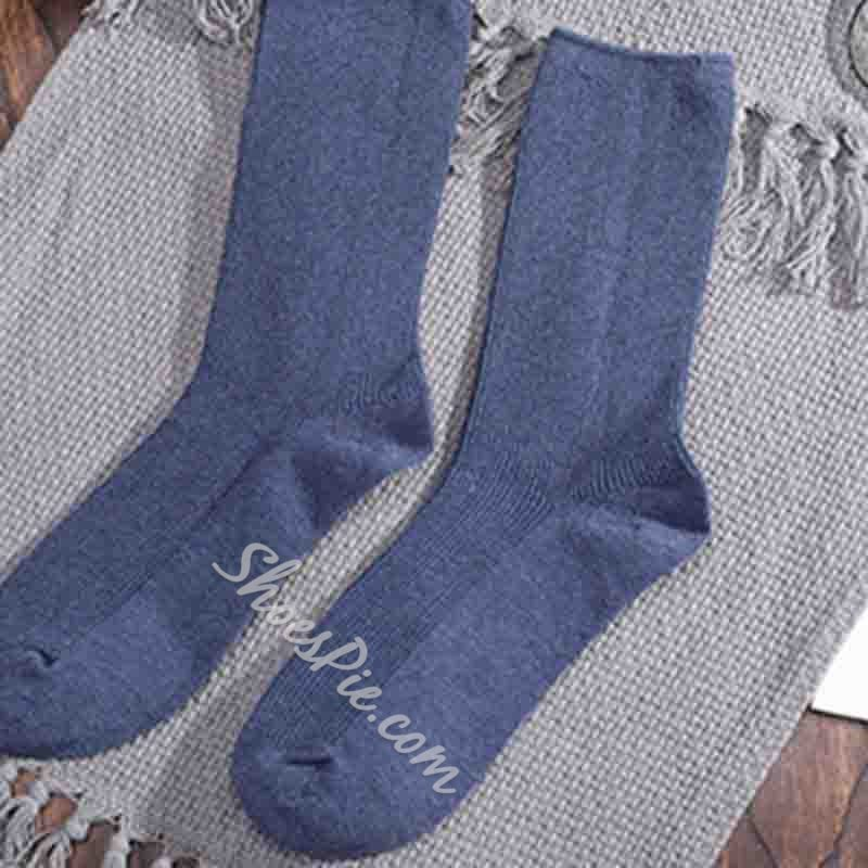 Cotton Breathable Solid Color Casual Socks