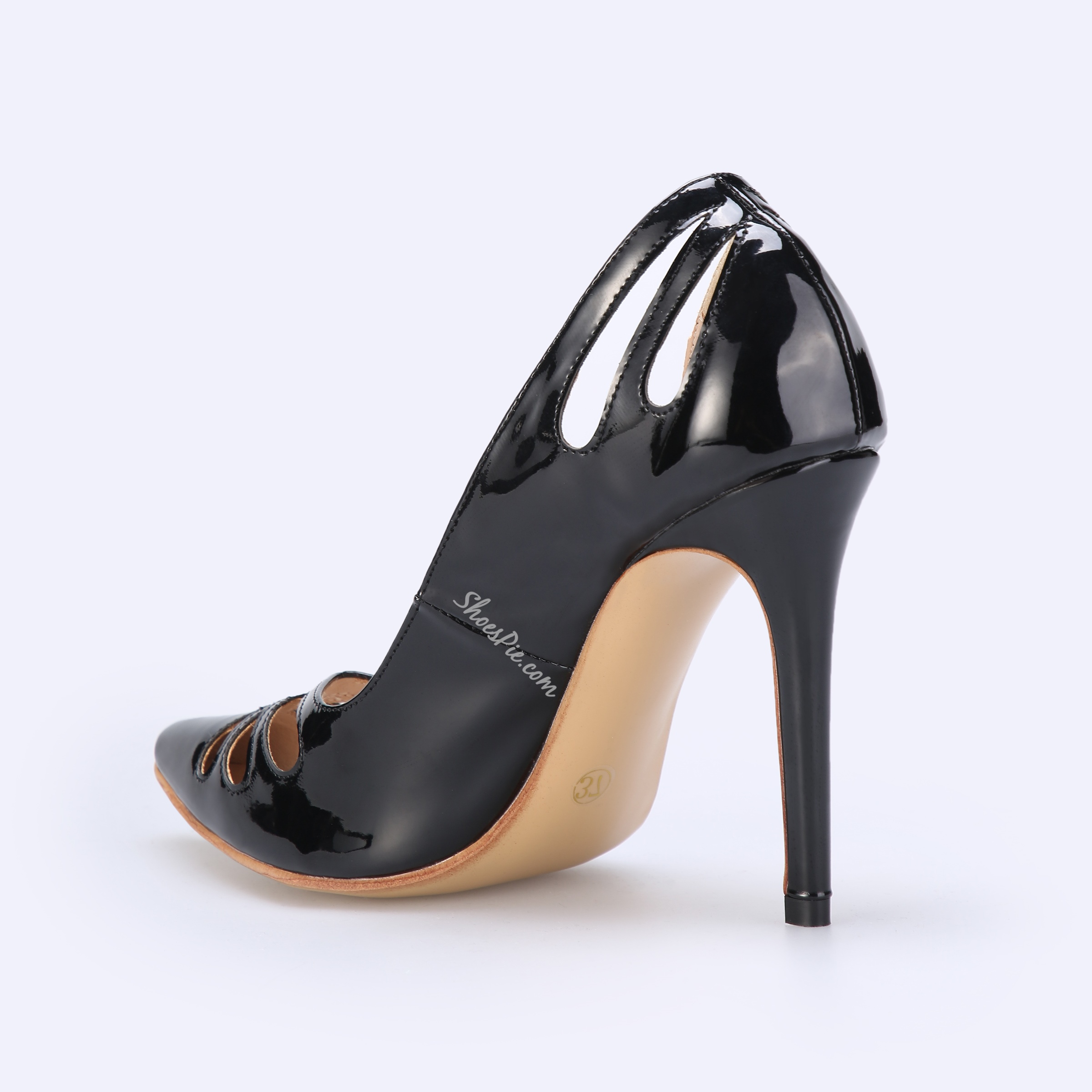 Shoespie Black Hollow Sexy Stiletto Heels