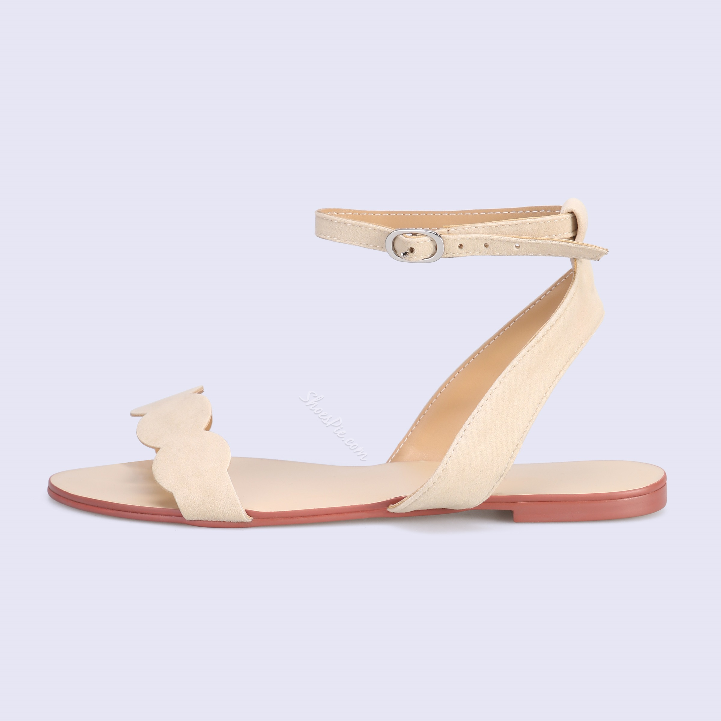 Shoespie Cute Nude Flat Sandals