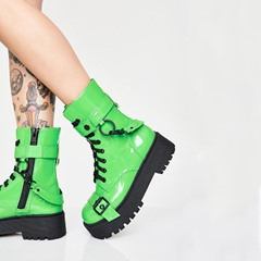 Shoespie Trendy Side Zipper Round Toe Casual Boots