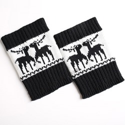 Knitted Christmas Style Winter Short Leg Warmer