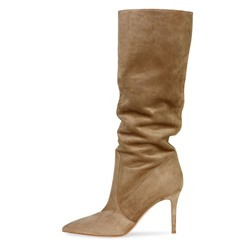 Shoespie Stylish Pointed Toe Stiletto Heel Slip-On Casual Boots