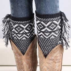 Fashion Wool Tassel Bohemian style Leg Warmer