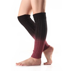 Knitted Fashion Gradient Winter Leg Warmers
