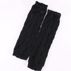 Stylish Polyester Plain Casual Leg Warmers