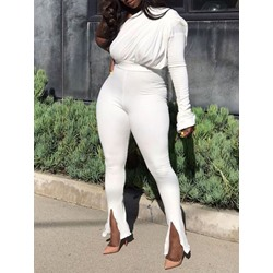 Plain Full Length Skinny Women's Jumpsuit