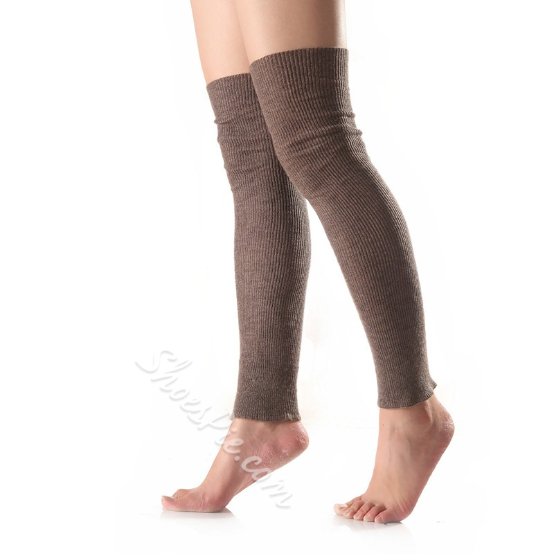Wool Over-Knee Casual Long Leg Warmers