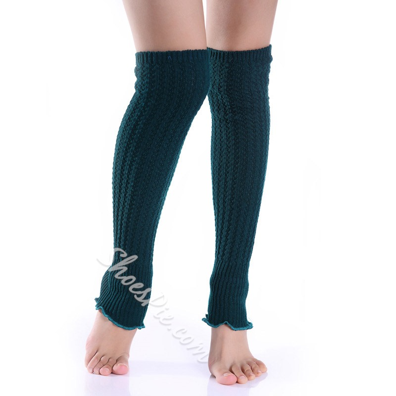 Knitted Plain Female Winter Leg Warmers