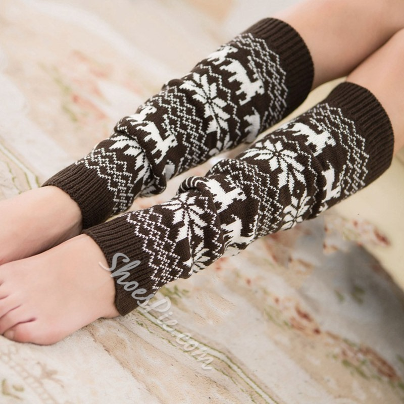 Acrylic Cartoon Casual Winter Leg Warmers