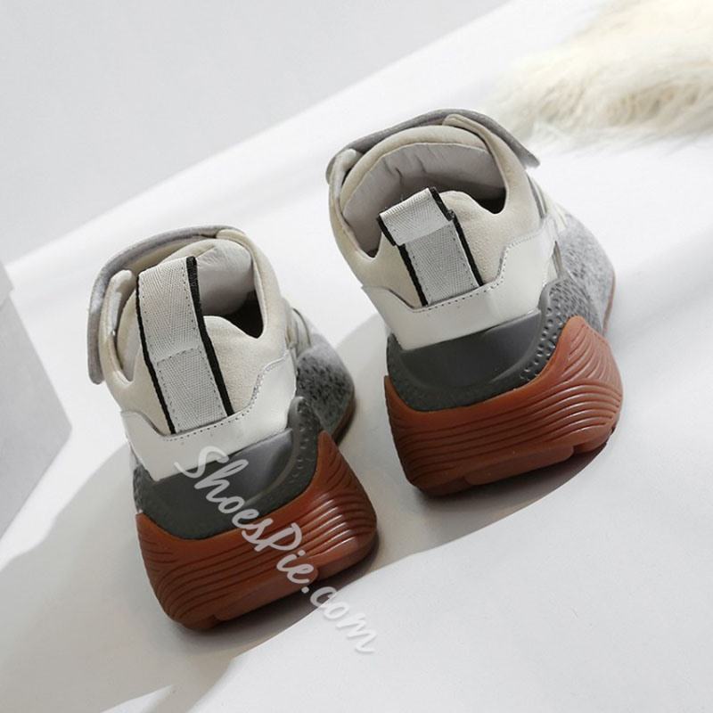 Shoespie Trendy Velcro Thread Round Toe Casual Sneakers
