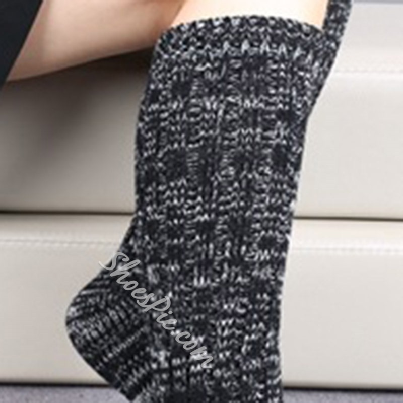 Stylish Polyester Mix-Color Winter Stocking