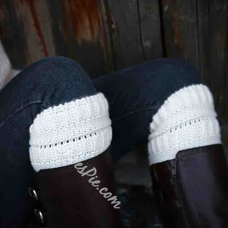 Wool Solid Color Winter Leg Warmer