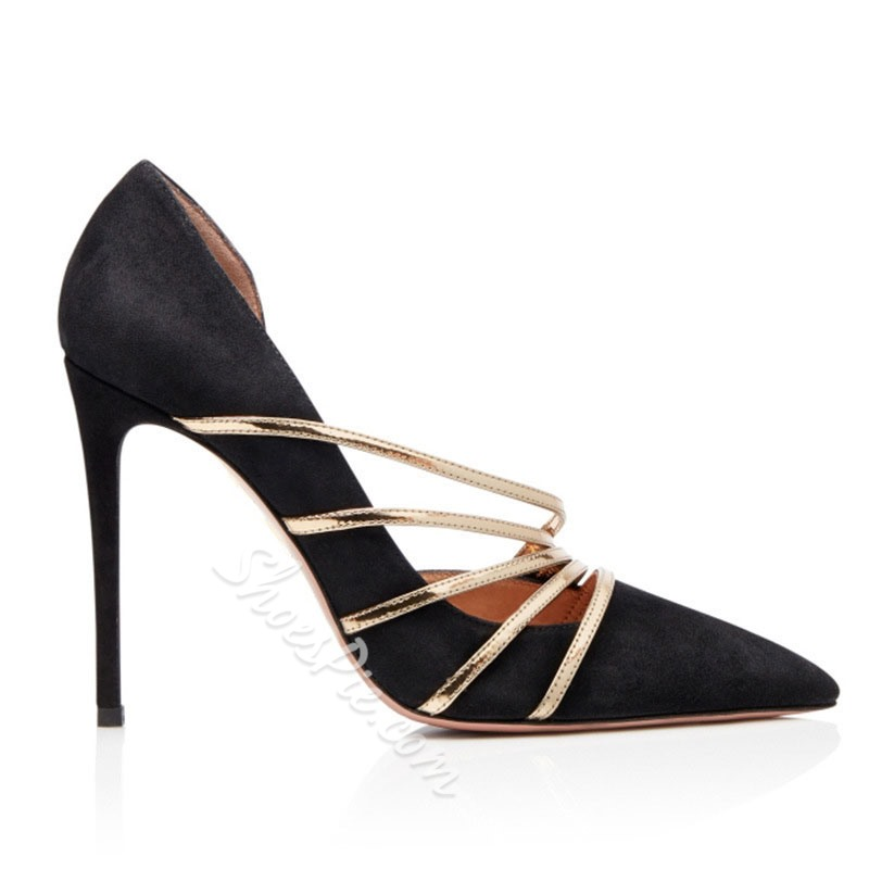 Shoespie Sexy Thread Pointed Toe Stiletto Heel Sweet Thin Shoes
