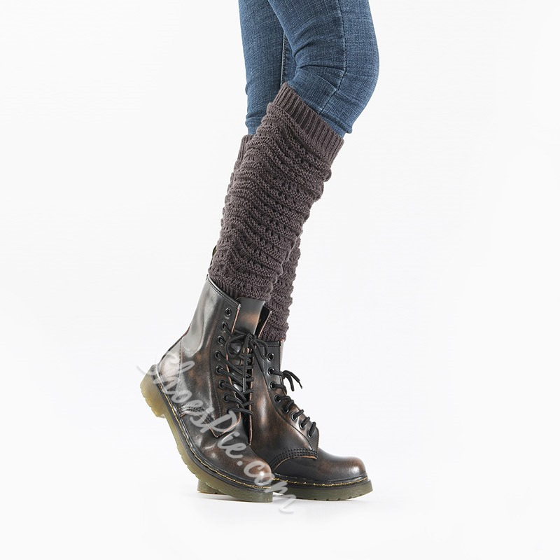 Plain Knitted Winter Casual Leg Warmers