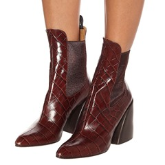 Shoespie Sexy Patchwork Pointed Toe Slip-On Western Boots