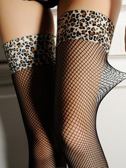 Leopard Ventilation Women's Stockings