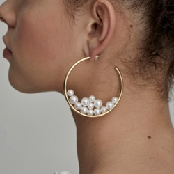 Pearl Inlaid European Alloy Party Earrings