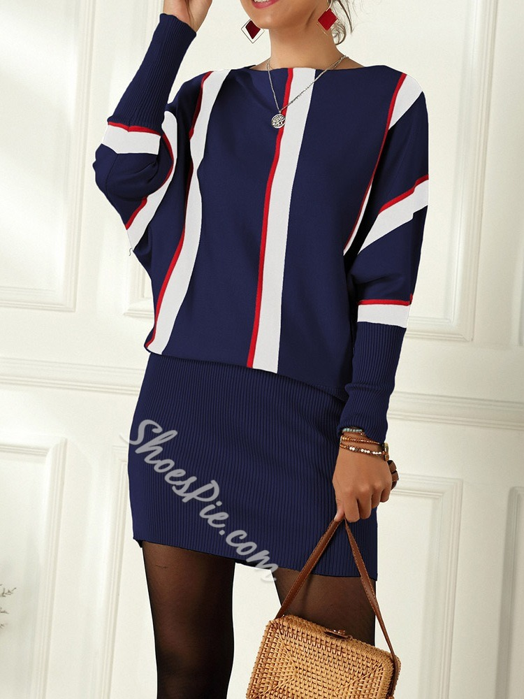 Long Sleeve Above Knee Western Women's Dress