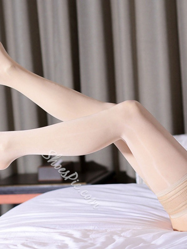 Stylish Plain Ventilation Women's Stockings