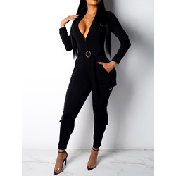 Ankle Length Plain Sexy Skinny Women's Jumpsuit