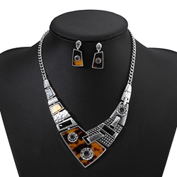 E-Plating Vintage Necklace Anniversary Jewelry Sets