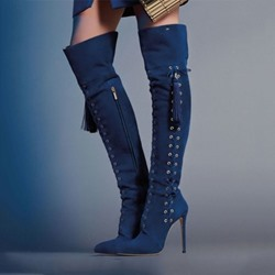 Shoespie Trendy Plain Pointed Toe Side Zipper Sexy Boots