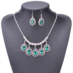 Diamante Vintage Earrings Birthday Jewelry Sets