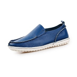 Shoespie Men's Leather Slip-On Low-Cut Upper Round Toe Thin Shoes