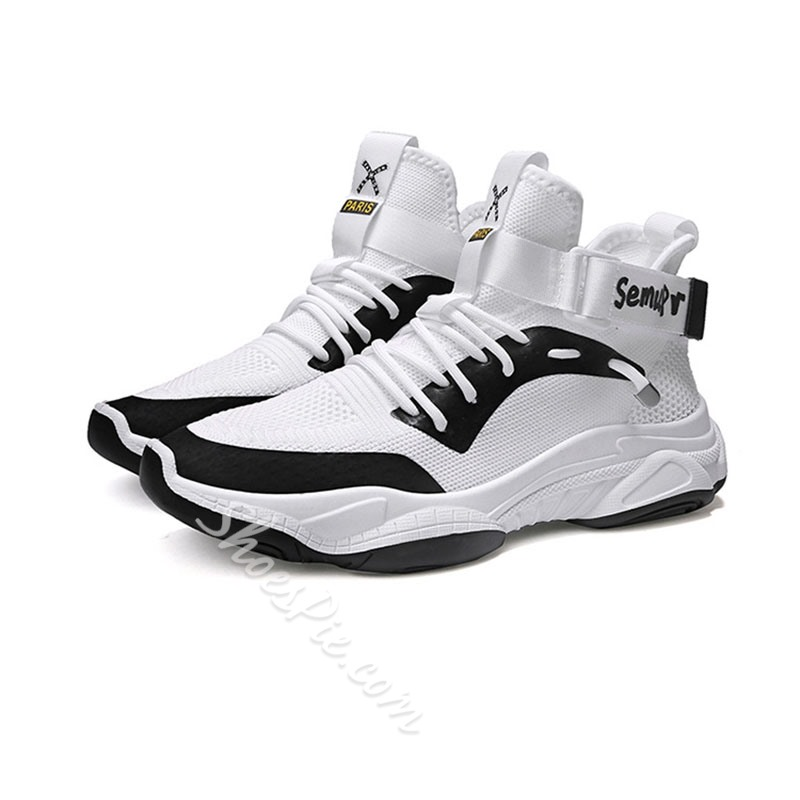 Shoespie Men's Sports Lace-Up Mesh Outdoor Sneakers