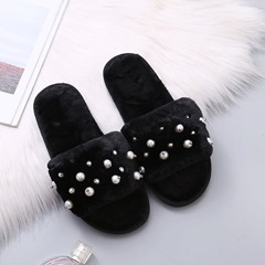 Shoespie Stylish Beads Flat With Flip Flop Sweet Slippers