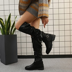 Shoespie Sexy Block Heel Plain Side Zipper Casual Boots