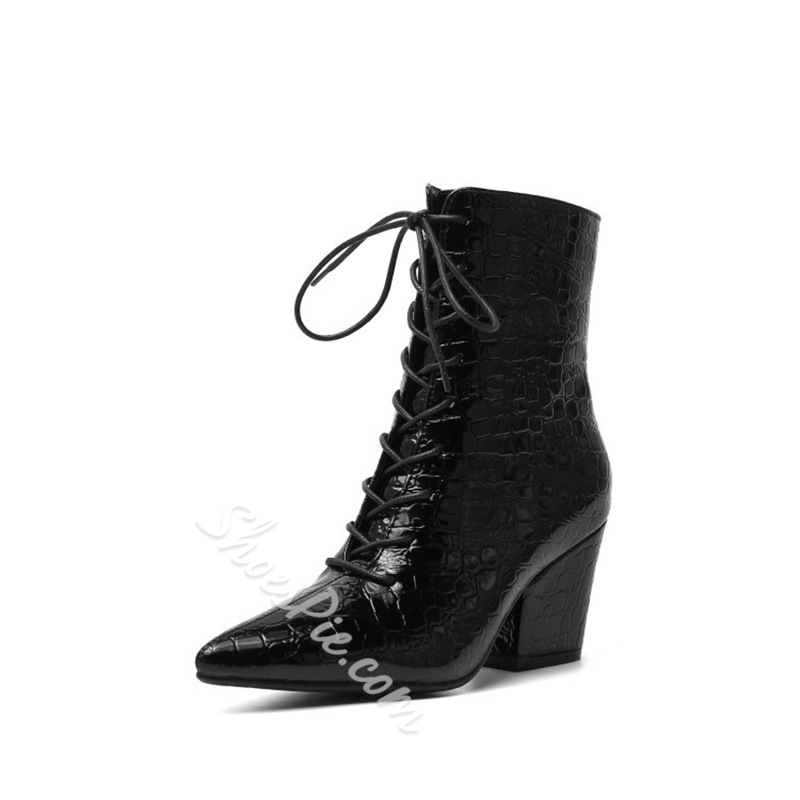 Shoespie Sexy Plain Side Zipper Pointed Toe Casual Boots