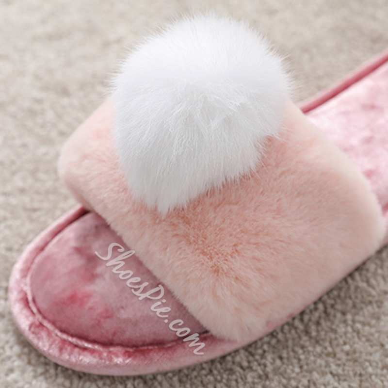 Shoespie Trendy Flip Flop Flat With Slip-On Cowhells Slippers