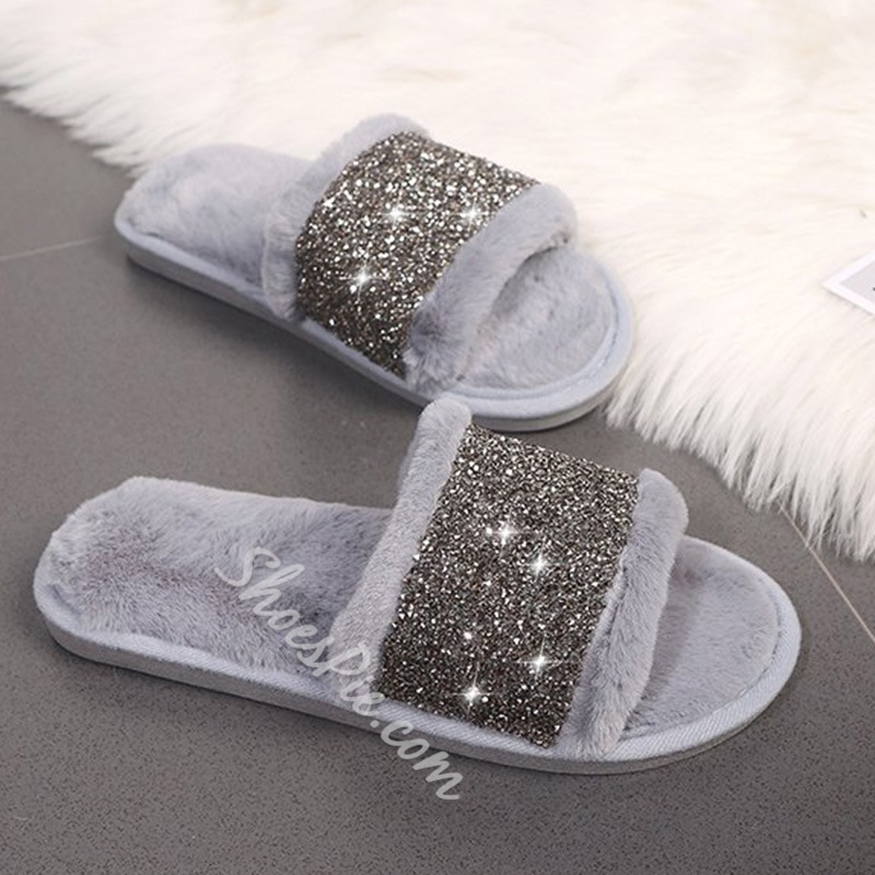 Shoespie Trendy Slip-On Flat With Flip Flop Indoor Slippers