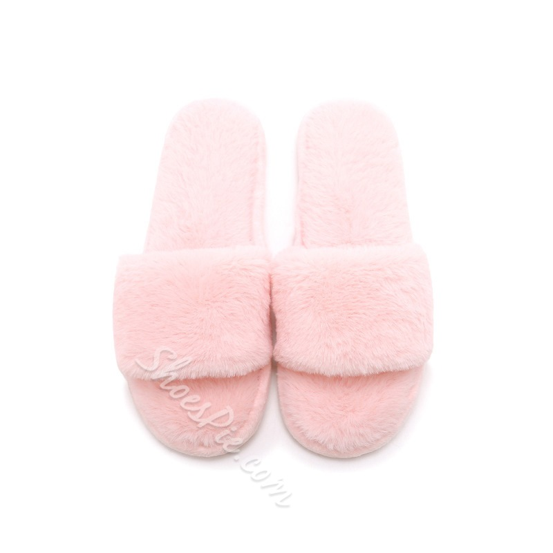 Shoespie Stylish Slip-On Flat With Candy Color Sweet Slippers