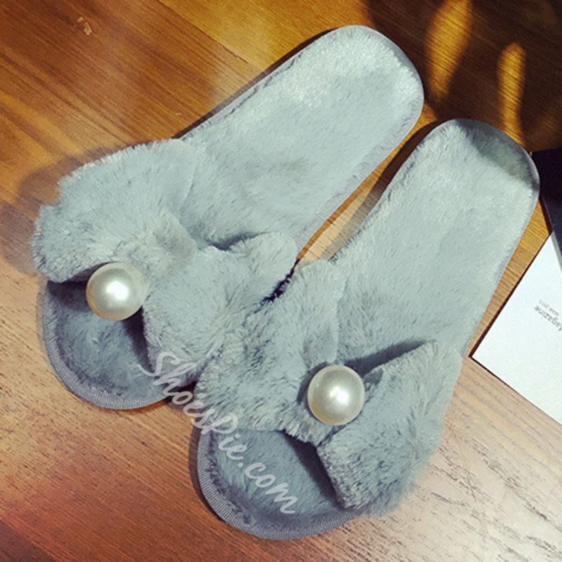 Shoespie Sexy Flat With Beads Toe Ring Indoor Slippers