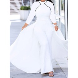 Full Length Swallowtail High Waist Women's Jumpsuit