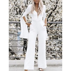 Full Length Plain Skinny Women's Jumpsuit